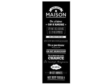 """Toile Imprimée """"Règles de la Maison"""" 30x90cm Noir - Paris Prix"""