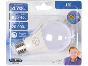 """Ampoule LED """"Standard 6W"""" 11cm Blanc - Paris Prix"""