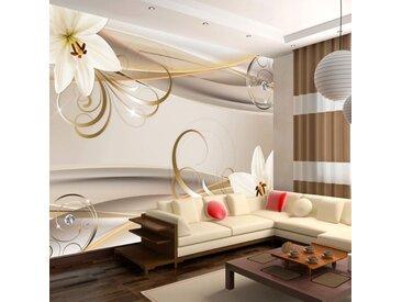 """Papier Peint """"Lilies & the Gold Spirals"""" - Paris Prix"""