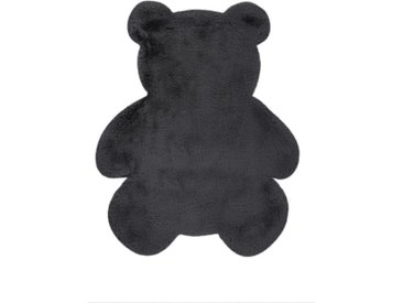 "Tapis Déco Enfant ""Lovely Teddy"" 73x90cm Anthracite - Paris Prix"