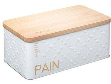 "Boîte à Pain ""Scandi"" 31cm Blanc - Paris Prix"