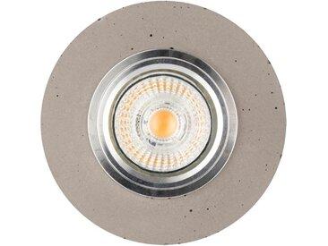 """Spot Encastrable Rond LED """"Béton"""" 10cm Gris - Paris Prix"""