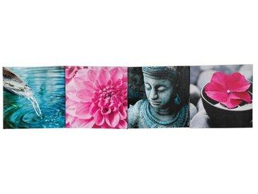 """Toile Imprimée """"Bouddha Fleur"""" 120cm Rose - Paris Prix"""