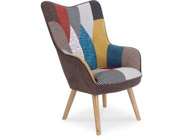 """Fauteuil Design Patchwork """"Artic"""" 100cm Multicolore - Paris Prix"""