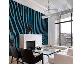 """Papier Peint """"Zebra Pattern Turquoise"""" - Paris Prix"""
