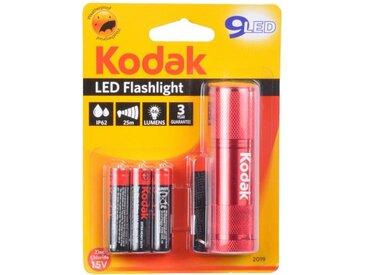 """Lampe Torche 9 LED """"Flashlight"""" 8cm Rouge - Paris Prix"""