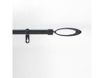 """Kit Tringle Déco Extensible """"Ovali"""" 120-210cm Noir - Paris Prix"""