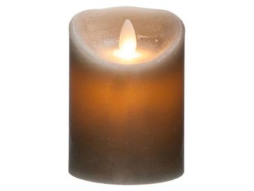 "Bougie Led Flamme Vacillante ""Vela"" 370g Gris - Paris Prix"