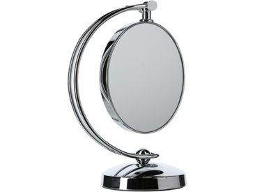 """Miroir à Poser Pivotant """"Double Face"""" Argent - Paris Prix"""