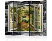 """Paravent 5 Volets """"Secret Garden"""" 172x225cm - Paris Prix"""