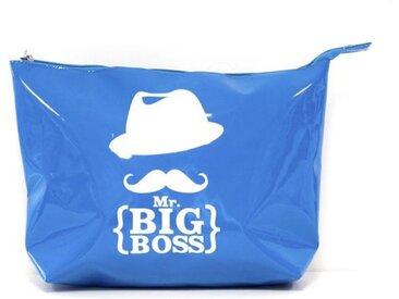 """Trousse de Toilette """"Mr Moustache®"""" 30cm Bleu - Paris Prix"""