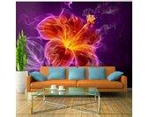 """Papier Peint """"Fiery Flower in Purple"""" - Paris Prix"""