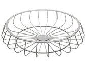 """Centre de Table Moderne """"New Line"""" 33cm Argent - Paris Prix"""