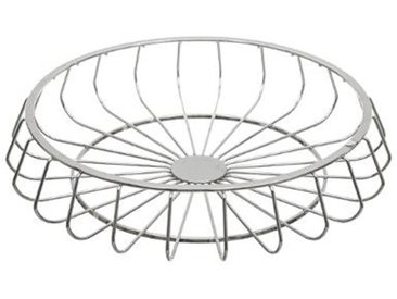 "Centre de Table Moderne ""New Line"" 33cm Argent - Paris Prix"