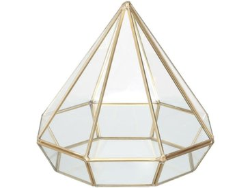 "Photophore Design ""Diamant"" 7cm Or - Paris Prix"