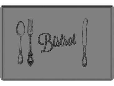 """Set de Table """"Cuisine Bistrot"""" 28x43cm Gris - Paris Prix"""