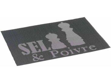 """Set de Table Imprimé """"Poivrier"""" 30x45cm Noir - Paris Prix"""