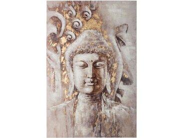 """Toile Peinte """"Bouddha"""" 60x90cm Multicolore - Paris Prix"""