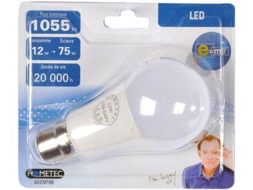 """Ampoule LED B22 """"Standard 12W"""" 12cm Blanc - Paris Prix"""