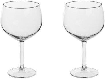 """Lot de 2 Verres à Vin """"Bourgogne"""" 65cl Transparent - Paris Prix"""