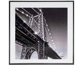 """Cadre en Verre """"Pont"""" 50x50cm Noir - Paris Prix"""