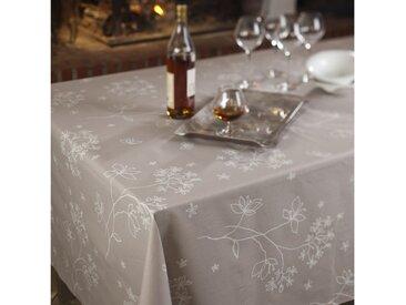 Nappe enduite Astrance beige Dimension - Carrée 160x160cm, Finition - Non ourlée (coupe franche), Matière - Coton enduit