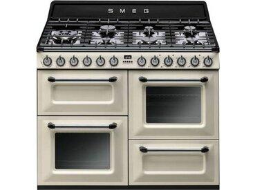 Smeg Piano de cuisson gaz Smeg TR4110P1 + Hotte grande largeur Smeg KTR110XE