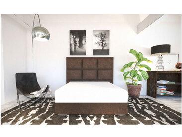 Sommier Alitea Hotel Et tete de lit deco Sophie 180x200 Velours Taupe