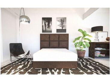 Sommier Alitea Hotel Et tete de lit deco Sophie 160x200 Velours Gris
