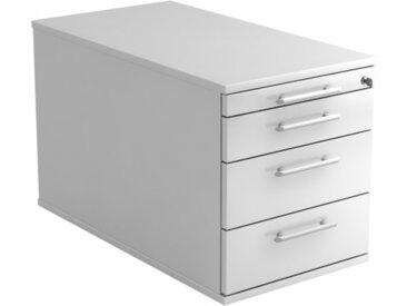 SIGNA TC30 RE - Caisson bureau sur roulettes Blanc avec 3 tiroirs poignée de bastingage plastique