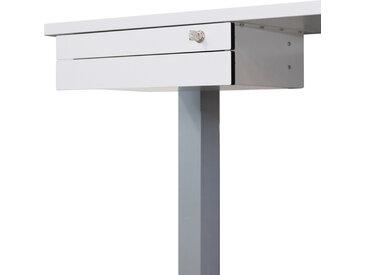 UCS 2 | Bloc-tiroirs montage sous le plateau | 2 tiroirs - Blanc