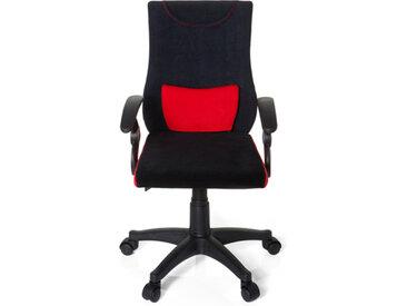 KIDDY PRO AL - Chaise pivotante pour des enfants Noir / Rouge