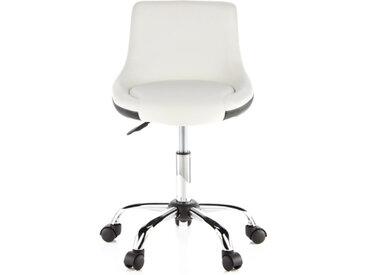 STEADY - Chaise de bureau enfant Blanc / Noir