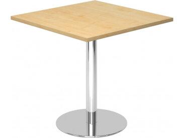 BISTRO F88Q C - Système de tables conférence Érable 80 x 80 chrome