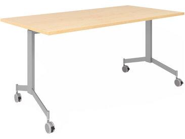 KALA 16 | Table pliante mobile | 160 cm | Argenté - Table de conférence Érable
