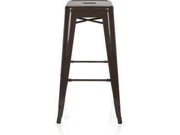 VANTAGGIO HIGH - Chaise haute de bar Marron