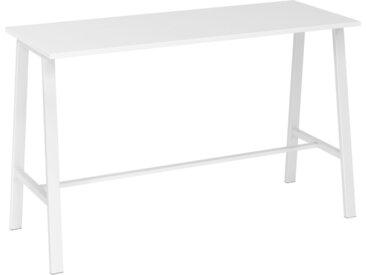 MEETING POINT MPA 17   Table haute - Système de tables conférence Blanc/Blanc