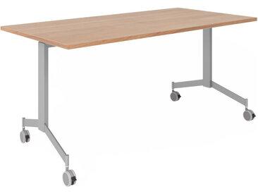 KALA 16 | Table pliante mobile | 160 cm | Argenté - Table de conférence Noyer