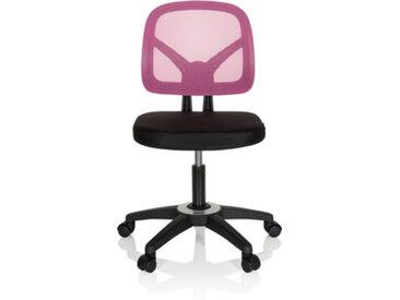 KID YU 100 - Chaise pivotante pour des enfants Noir / rose