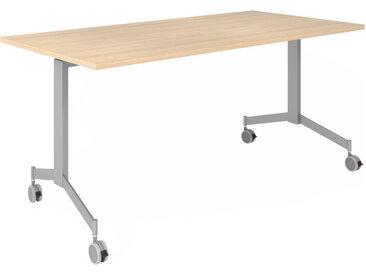 KALA 16 | Table pliante mobile | 160 cm | Argenté - Table de conférence Chêne