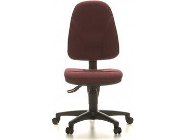 POINT 20 - Siège de bureau à domicile Rouge Foncé tissu