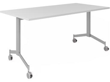 KALA 16 | Table pliante mobile | 160 cm | Argenté - Table de conférence Gris