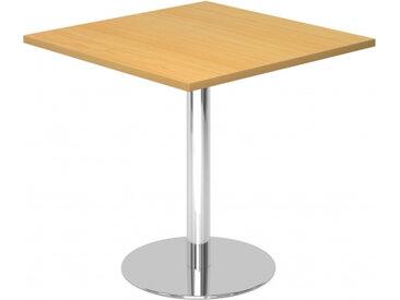 BISTRO F88Q C - Système de tables conférence Hêtre 80 x 80 chrome