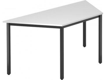 DORAN DQTR D - Blanc 160 x 69 avec tube rectangulaire/noir