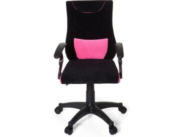 KIDDY PRO AL - Chaise pivotante pour des enfants noir / rose