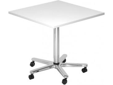 BISTRO 88Q C - Système de tables conférence Blanc 80 x 80 chrome