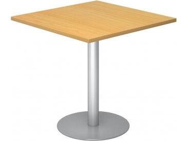 BISTRO F88Q S - Système de tables conférence Hêtre 80 x 80 argent
