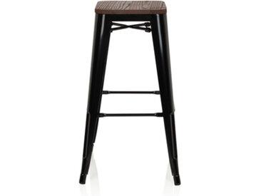 VANTAGGIO HIGH W Tabouret de bar - Chaise haute de bar Noir