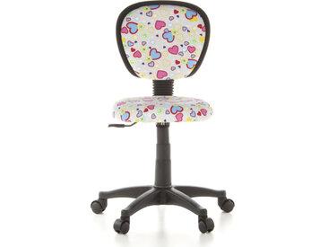 KIDDY TOP - Chaise pivotante pour des enfants Motif fleurs/cœurs
