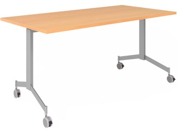 KALA 16 | Table pliante mobile | 160 cm | Argenté - Table de conférence Hêtre